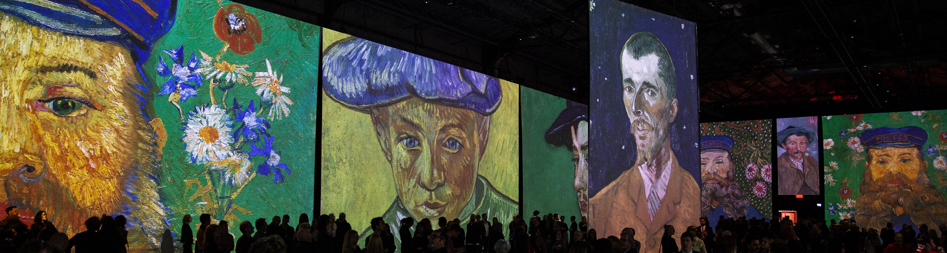 Immersive projection screens