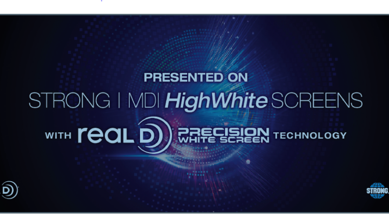 Highwhite screens with RealD Precision White Screen Technology