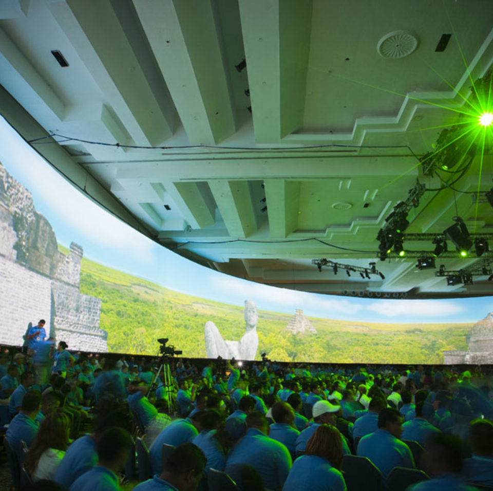 Large Circular Projection Screen