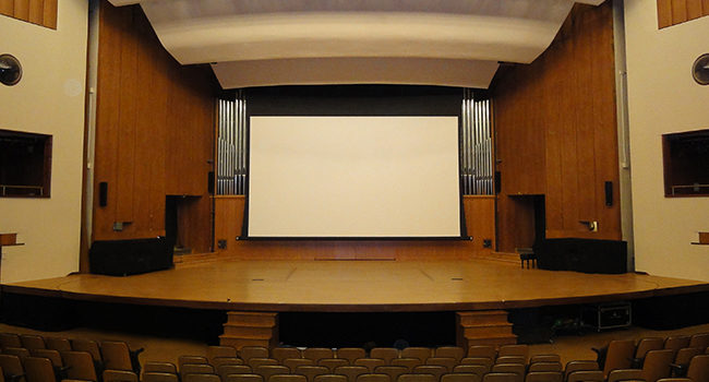 Motorized Screen for the Salle Claude Champagne
