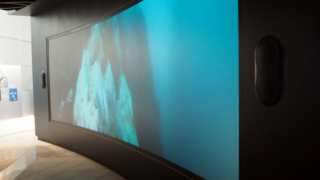 Curved Screen for 'Virtual' Aquarium at the Perlan Museum